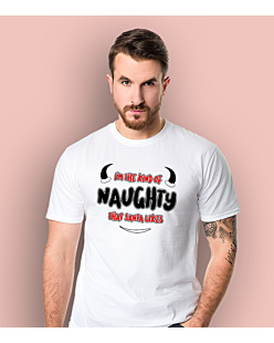 I'm the kind of naughty that santa likes T-shirt męski Biały S