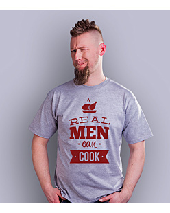 Real Man Can Cook T-shirt męski Jasny melanż S