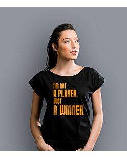 I'm not a player T-shirt damski Czarny XS