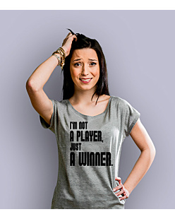 I'm not a player T-shirt damski Jasny melanż XS