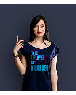 I'm not a player T-shirt damski Granatowy XS