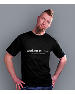 Working on it T-shirt męski Czarny S
