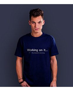 Working on it T-shirt męski Granatowy S
