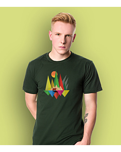 Bear Colors T-shirt męski Ciemnozielony L