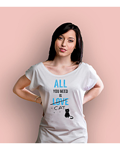 All You need is cat T-shirt damski Biały XS
