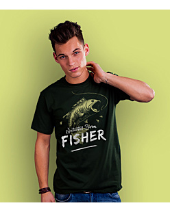 Natural Born: Fisher T-shirt męski Ciemnozielony S