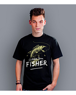 Natural Born: Fisher T-shirt męski Czarny S