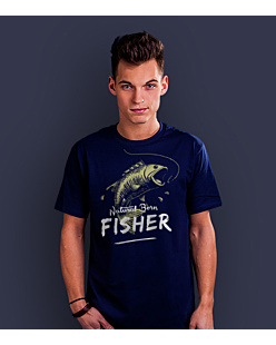 Natural Born: Fisher T-shirt męski Granatowy S