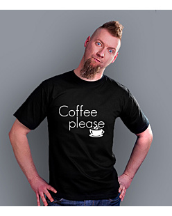 Coffee Please T-shirt męski Czarny S