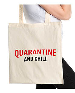 Quarantine and chill Torba na zakupy Naturalna Universal