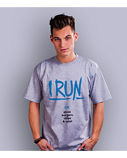 I Run for T-shirt męski Jasny melanż S
