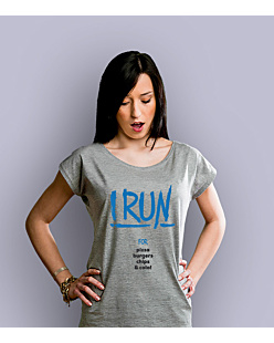 I Run for T-shirt damski Jasny melanż XS