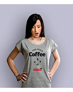 too much coffee please T-shirt damski Jasny melanż XS