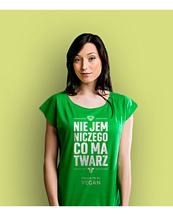 Proud to be VEGAN  T-shirt damski Zielony XS