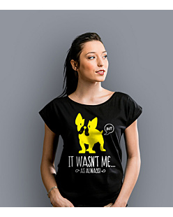 It wasn't me! T-shirt damski Czarny XS