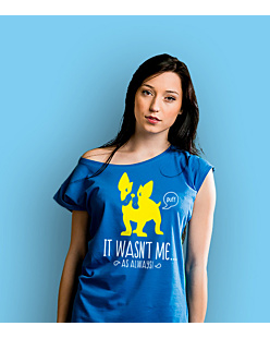 It wasn't me! T-shirt damski Niebieski XS