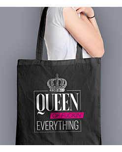 Queen of everything Torba na zakupy Czarna Universal