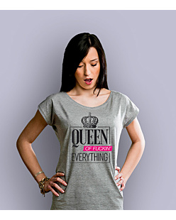 Queen of everything T-shirt damski Jasny melanż XXL