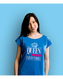 Queen of everything T-shirt damski Niebieski XXL