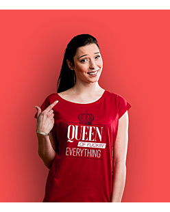 Queen of everything T-shirt damski Czerwony XXL