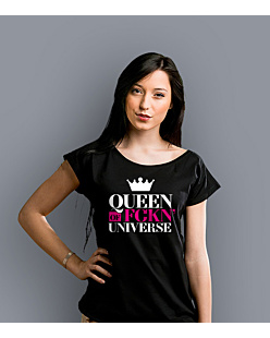 Queen of Universe T-shirt damski Czarny XXL