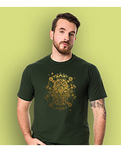 Sea Treasure Gold T-shirt męski Ciemnozielony S
