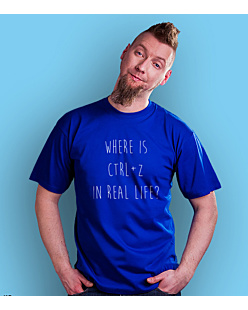 Where is CTLR+Z T-shirt męski Niebieski S