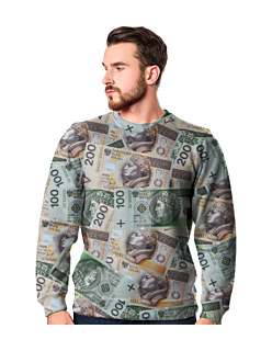 Money Money Bluza Fullprint Męska S