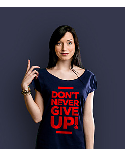 Don't never give up T-shirt damski Granatowy XS