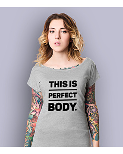 Perfect Body T-shirt damski Jasny melanż XS