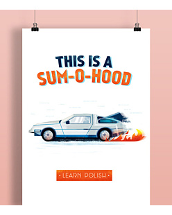 THIS IS A SUMOHOOD  Plakat Biały A2