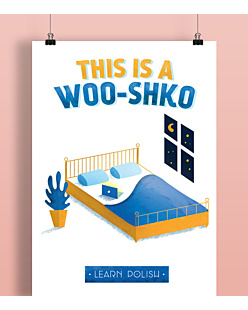 This Is A Woo-Shko Plakat Biały A2