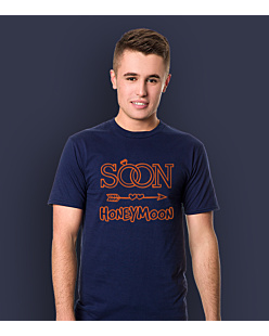 Soon honeymoon T-shirt męski Granatowy S