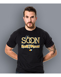 SoonHoneymoon T-shirt męski Czarny S