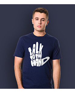 Talk to The Hand T-shirt męski Granatowy S