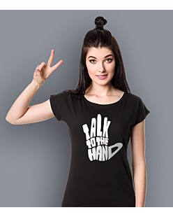 Talk to The Hand T-shirt damski Czarny XS