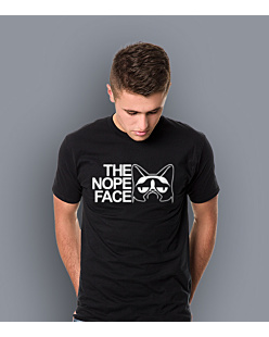The Nope Face T-shirt męski Czarny XXL