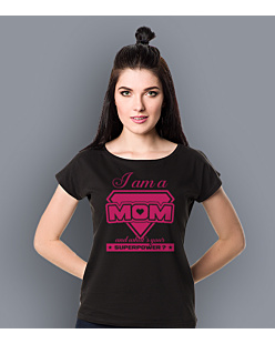 I am a Mom T-shirt damski Czarny XS