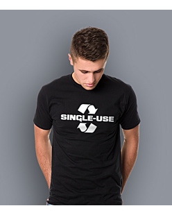 Single Use T-shirt męski Czarny L