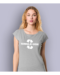 Single Use T-shirt damski Jasny melanż XS