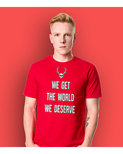True Detective - Get the world T-shirt męski Czerwony L
