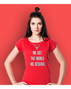 True Detective - Get the world T-shirt damski Czerwony XS