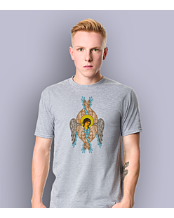 The Angel T-shirt męski Jasny melanż S