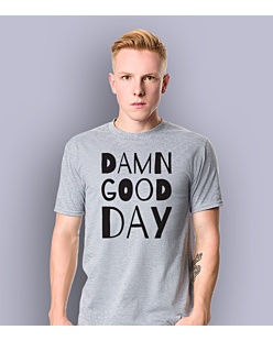 Damn Good Day T-shirt męski Jasny melanż S