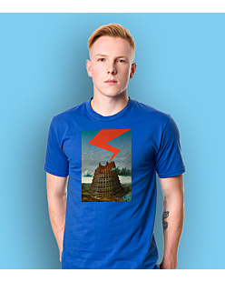 The Tower of Babel T-shirt męski Niebieski S