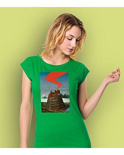 The Tower of Babel T-shirt damski Zielony XS