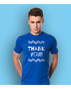 Thank You T-shirt męski Niebieski S