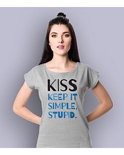 Kiss - Keep It Simple Stupid T-shirt damski Jasny melanż XS