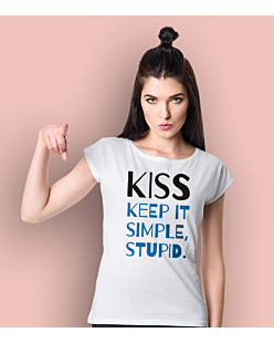 Kiss - Keep It Simple Stupid T-shirt damski Biały XS