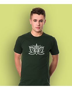 The Lotus T-shirt męski Ciemnozielony S
